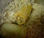 とうもろこしの玄米ごはんを炊きました