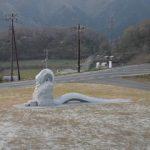 奥出雲・ループ橋にオロチ像が鎮座